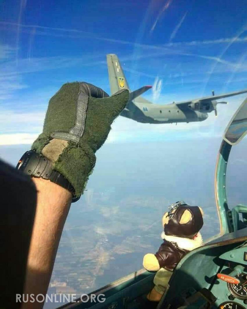 Лётчик ВКС РФ «поймал за хвост» украинский военный самолёт около Крыма